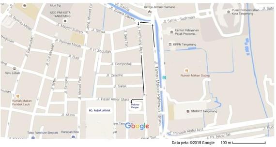 Google Maps pasar anyar